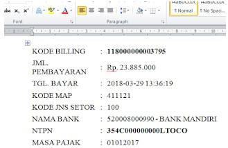 print kode billing pajak