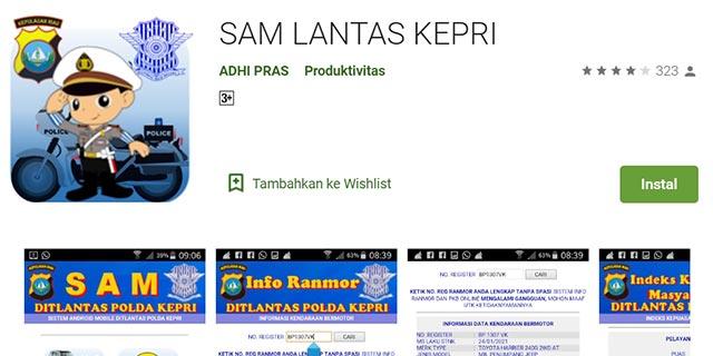 Cek Pajak Kendaraan Kepulauan Riau Lewat Hp Android