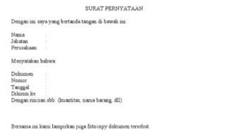 5 Contoh Surat Pernyataan Kehilangan Dokumen : SIM, KTP, Ijazah, ATM