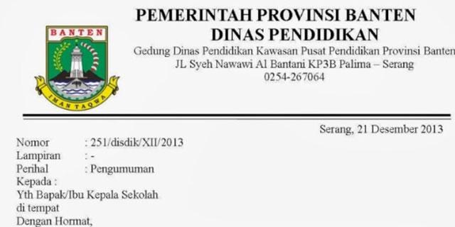Contoh Surat Dinas Perusahaan Sekolah dan Pemerintah