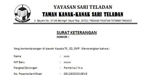 Contoh Surat Keterangan Kerja Untuk Visa KPR Bank NPWP