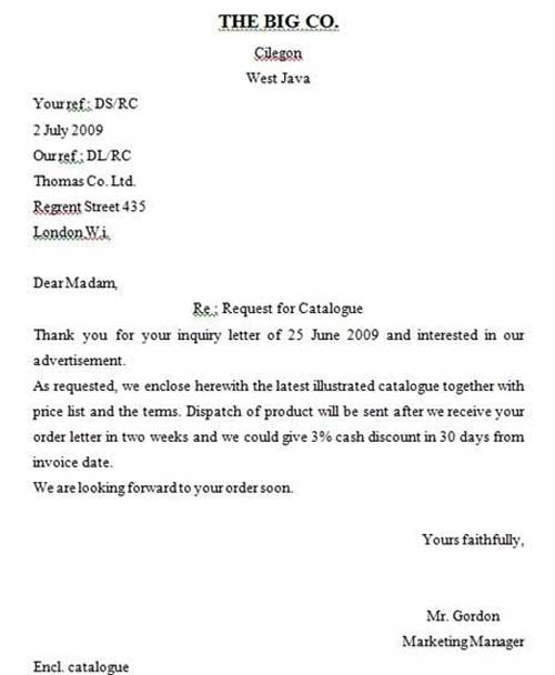 Contoh Surat Pesanan Dalam Bahasa Inggris Terbaru
