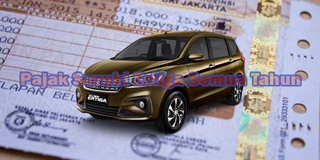 Pajak Mobil Suzuki Ertiga Semua Tahun