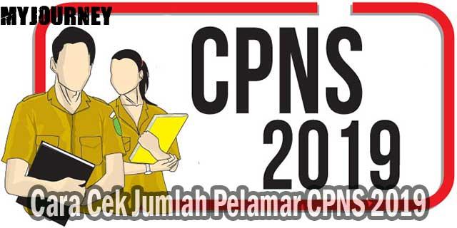 Cara Cek Jumlah Pelamar CPNS 2019