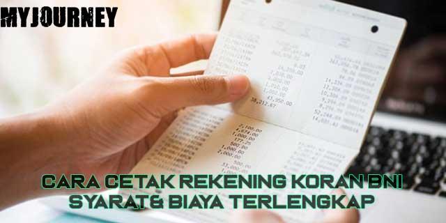 Cara Cetak Rekening Koran BNI