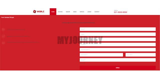 Akses Website Resmi Sicepat