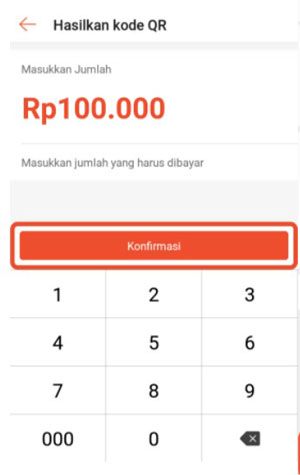 4. Lalu masukkan jumlah yang harus dibayarkan lalu klik Konfirmasi