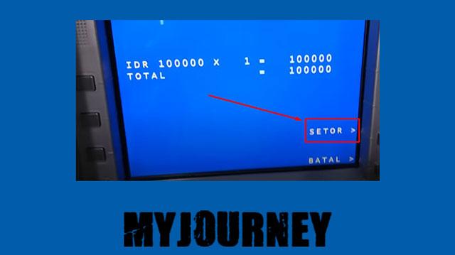6 Akan muncul jumlah uang yang disetorkan tadi jika benar maka klik Setor