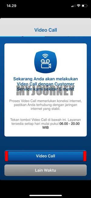 Video Call dengan Customer Service