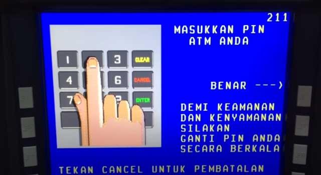 Masukkan PIN ATM BNI