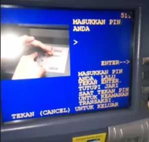 Masukkan PIN ATM