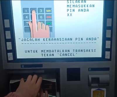 Masukkan PIN Kartu ATM BCA