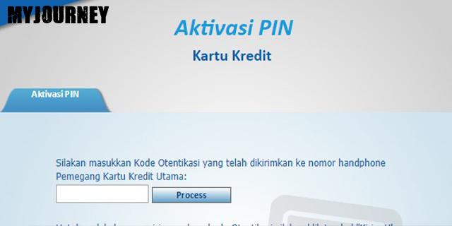 Buat PIN Kartu Kredit BCA Lewat Website