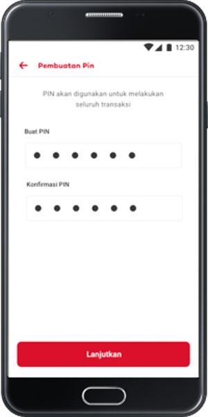 Buat PIN Transaksi 6 Digit
