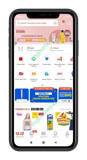 Masuk ke Aplikasi Shopee