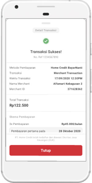 Cek Rincian Transaksi