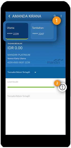 Limit Tagihan atau Cek Limit Transaksi