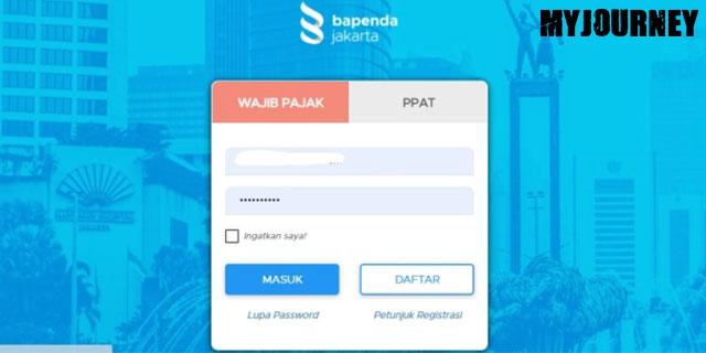 Login dengan Akun Terdaftar di Bapenda Jakarta