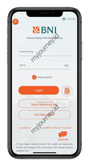 Login ke Aplikasi BNI Mobile