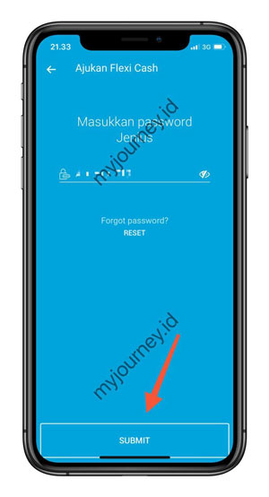 Masukkan Password Jenius BTPN