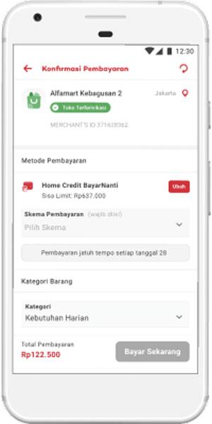 Pilih Home Credit BayarNanti