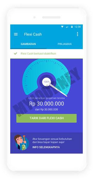 Pilih Menu Tarik Dari Flexi Cash
