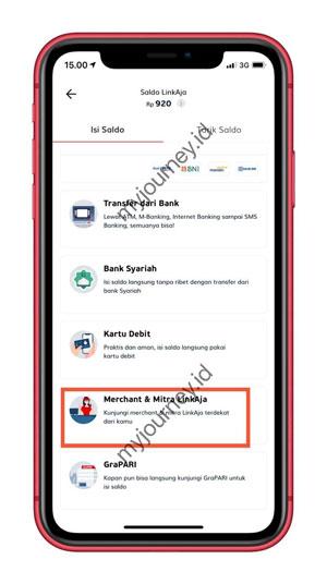 Pilih Merchant Mitra LinkAja