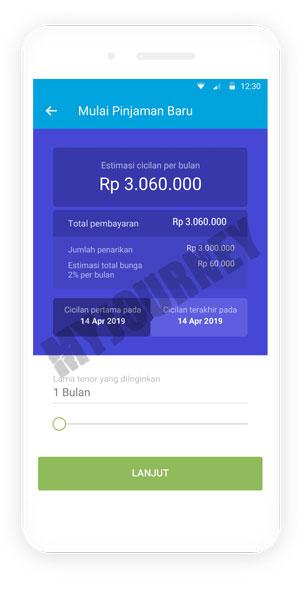 Pilih Tenor Pinjaman