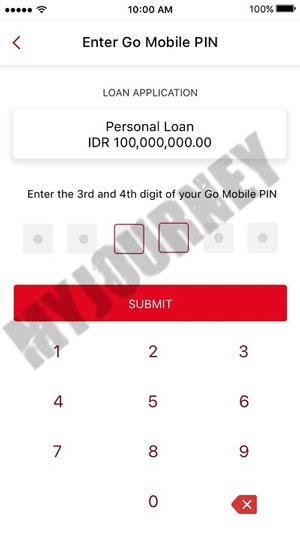 Konfirmasi PIN Octo Mobile