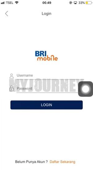 Login Aplikasi BRImo