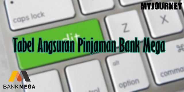 Tabel Angsuran Pinjaman Bank Mega