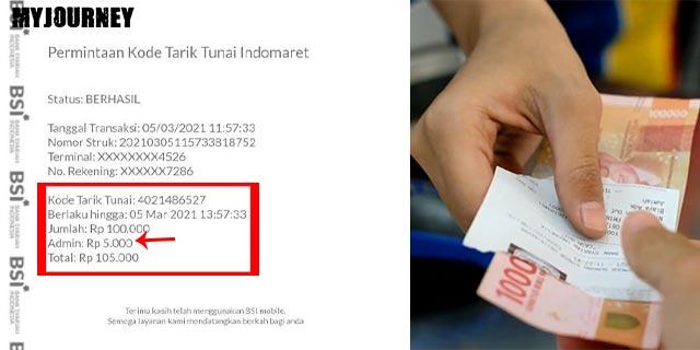 Biaya Admin Limit Penarikan