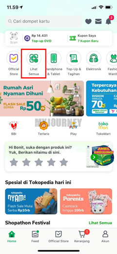 Buka Aplikasi Tokopedia