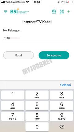 Masukkan ID Billing Nomor Tagihan
