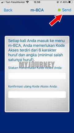 Masukkan Kode Akses BCA Mobile