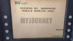Masukkan Nomor HP M Banking BSI
