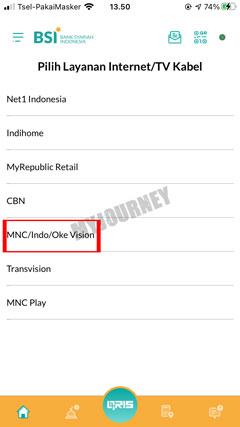 Pilih Menu MNC Indo Oke Vision