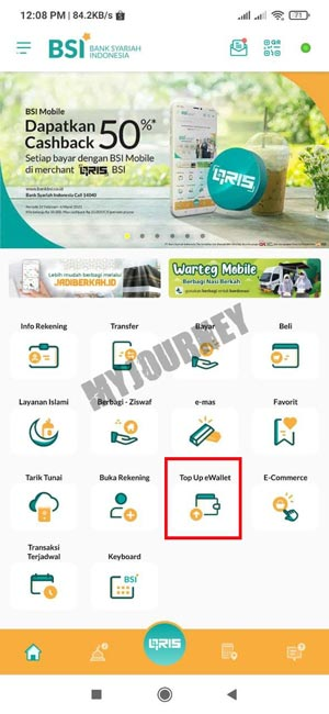 Pilih Top Up E Wallet