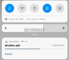 Download Aplikasi Berjalan