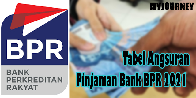 Tabel Angsuran Pinjaman Bank BPR 2021