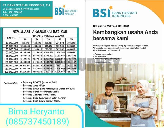 Tabel KUR Mikro Bank BSI