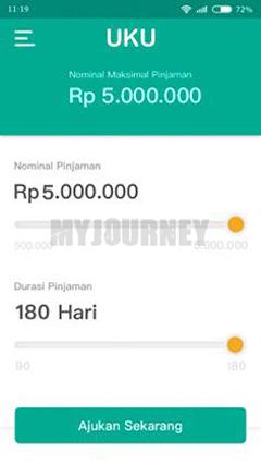 Pilih Nominal Pinjaman dan Tenor