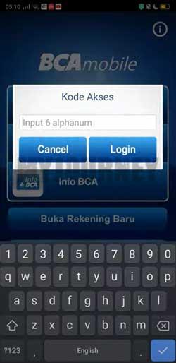 Input Kode Akses