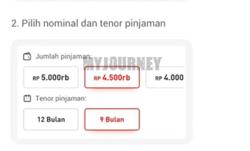 Pilih Nominal Pinjaman