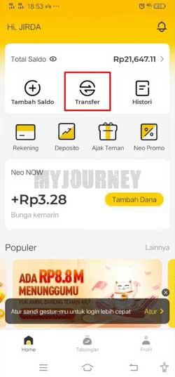 Buka Aplikasi Bank Neo 1