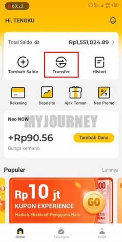 Buka Aplikasi Bank Neo