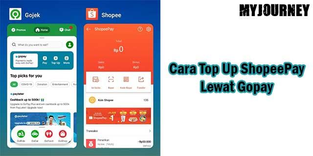 Cara Top Up ShopeePay Lewat Gopay
