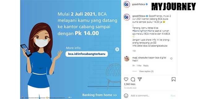 JADWAL OPERASIONAL BANK BCA SELAMA PPKM