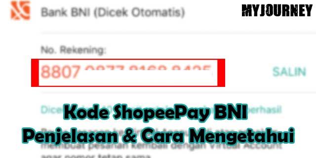 Kode ShopeePay BNI