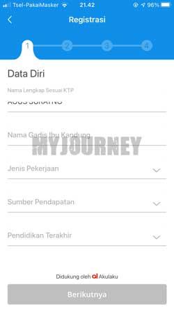 Lengkapi Informasi Data Diri